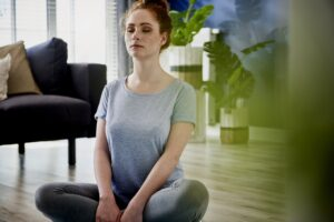 Meditation exercise done at home